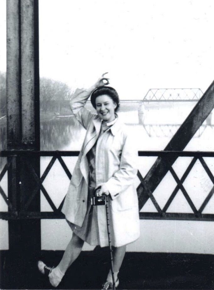 Dee Burroughs on a Bridge