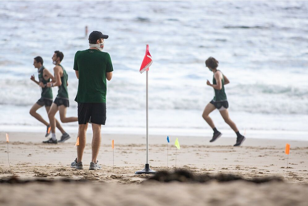 ME Hornets Cross Country at Singing Beach