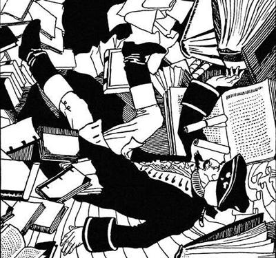 Illustration Books Mess