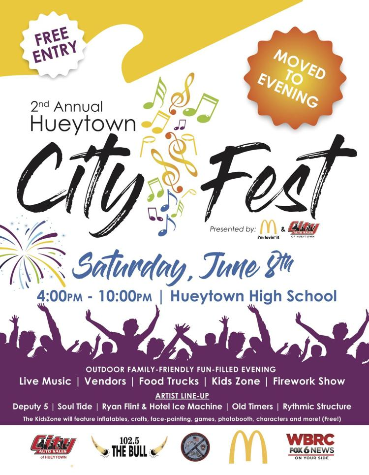 City Auto Sales Hueytown >> 2nd Annual Hueytown Cityfest Saturday June 8 2019 4 Pm 10 Pm