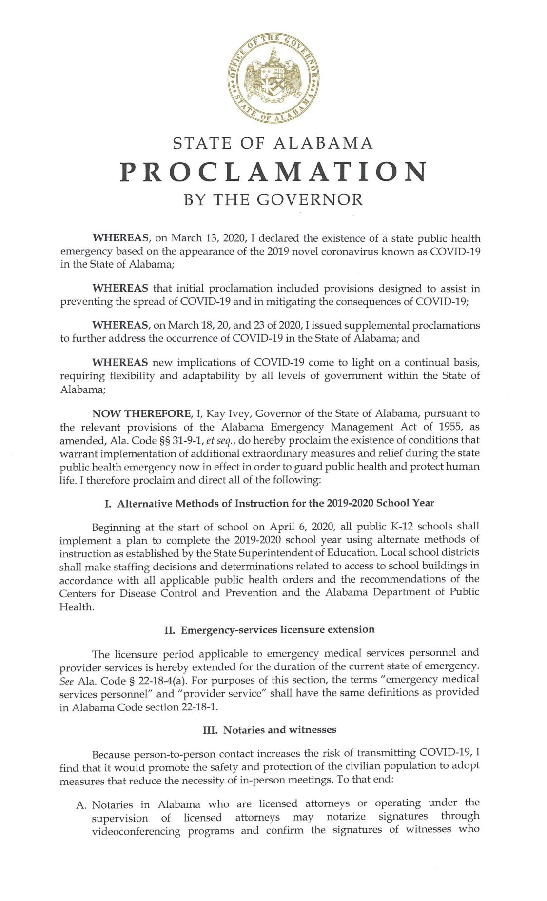 4th Supplemental State of Emergency COVID-19 Page 1.jpg
