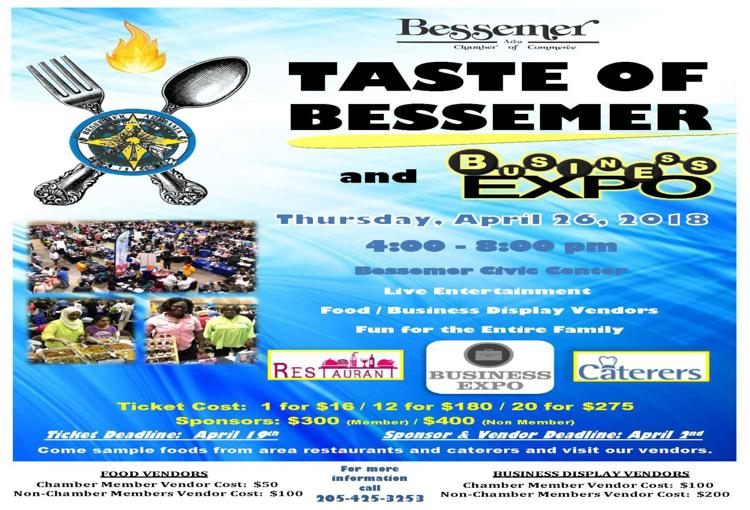 The Taste Of Bessemer and Business Expo - Thursday, April 26