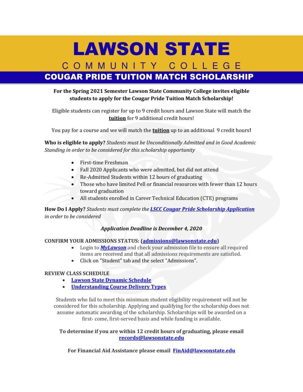 Lawson State Cougar Pride Scholarship Flyer 2020 (1).pdf