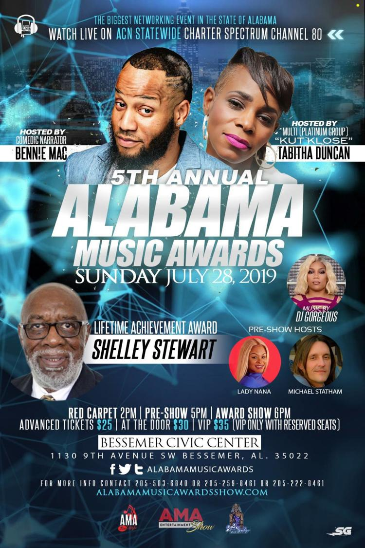 Award Show Calendar 2019 5th Annual Alabama Music Awards   Sunday, July 28, 2019   Red