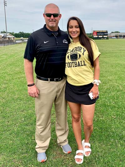 Coach Bart Sessions pictured with his wife Birmingham TV sports anchor for CBS 42, Simone Eli.