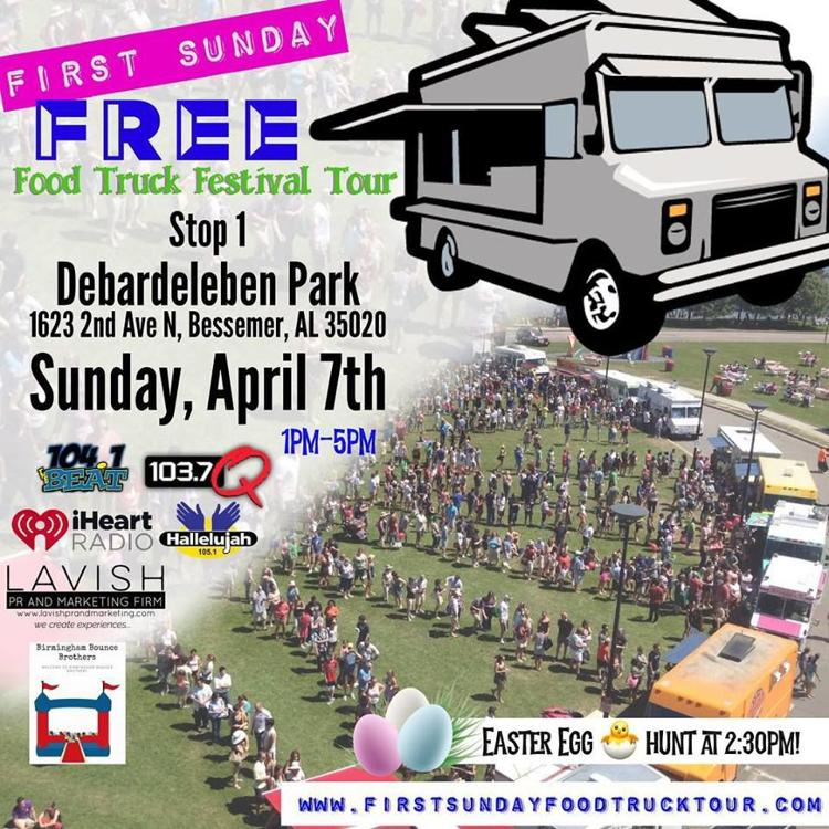 First Sunday Food Truck Festival Tour - Sunday, April 7