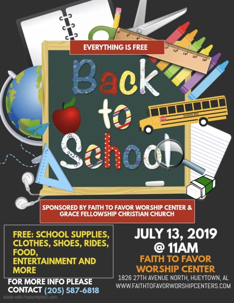 Back To School Bash - *Free* - Faith To Favor Worship Center