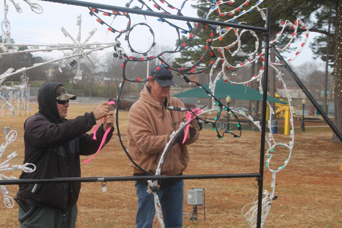 Decorations coming down at Berryhill Park
