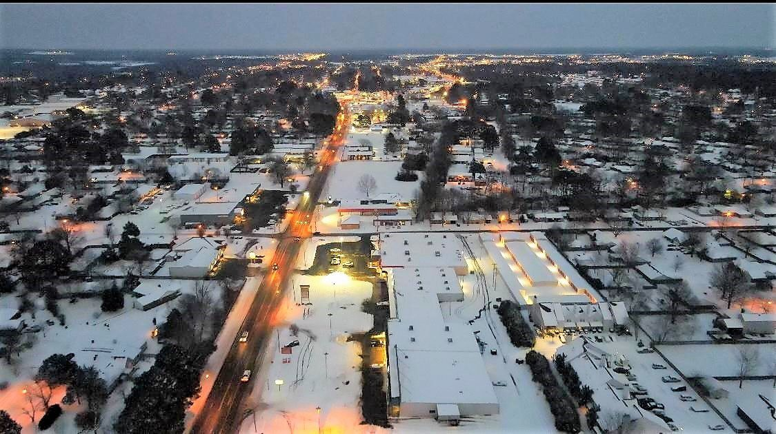 Snow blankets Searcy