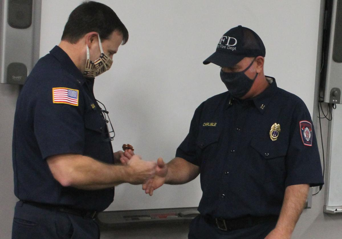 Promoted to battalion chief