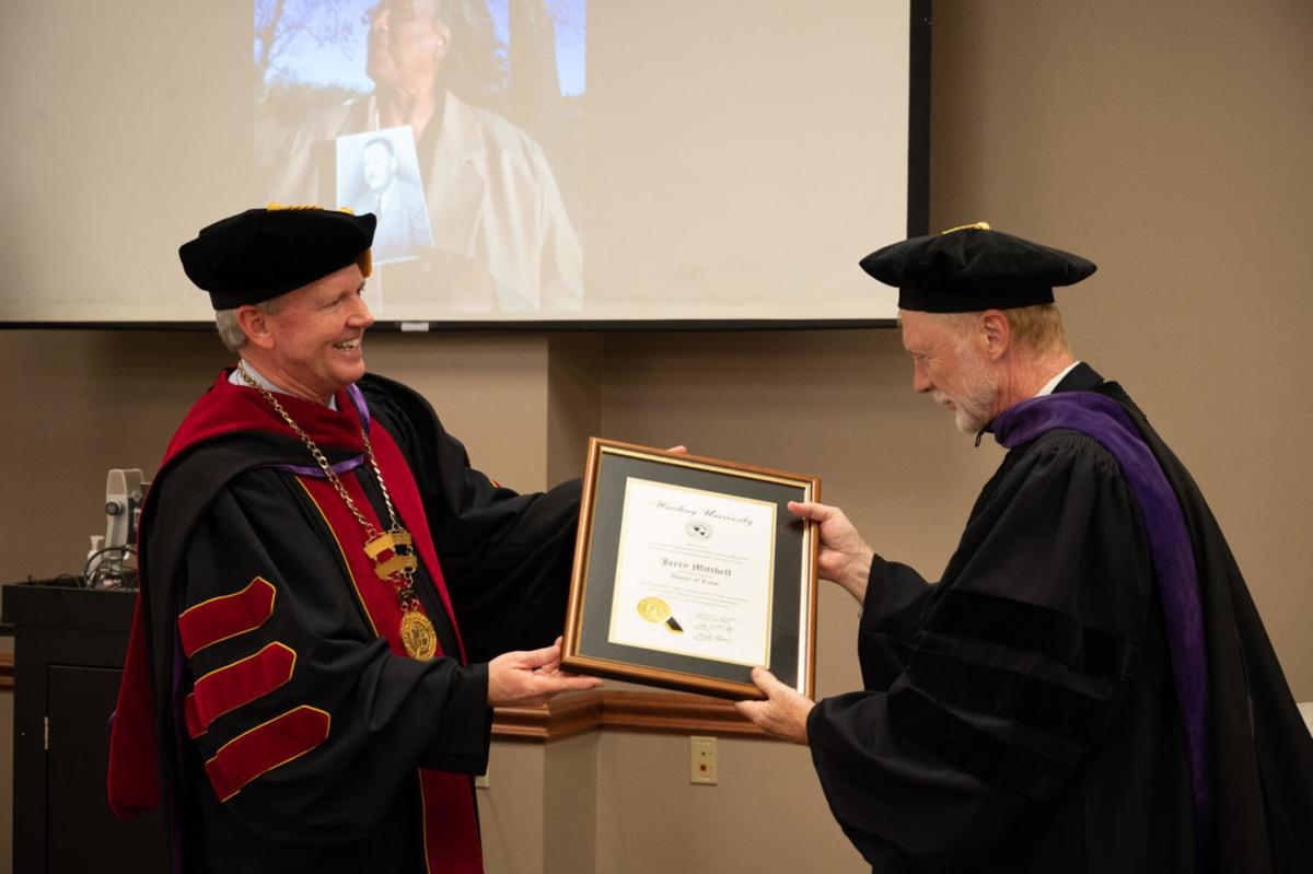 1982 Harding University grad Jerry Mitchell receives honorary doctor of law degree