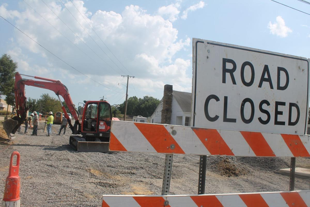Curb and getter work on Country Club Road