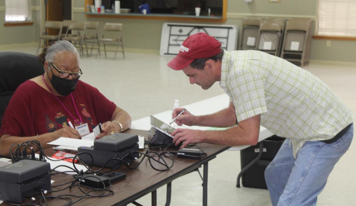 Voting on special election day in Beebe