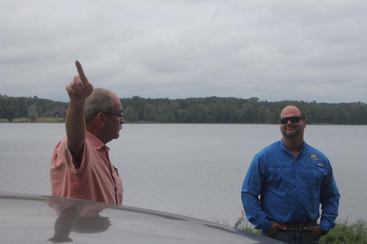 Talking at Bald Knob Lake