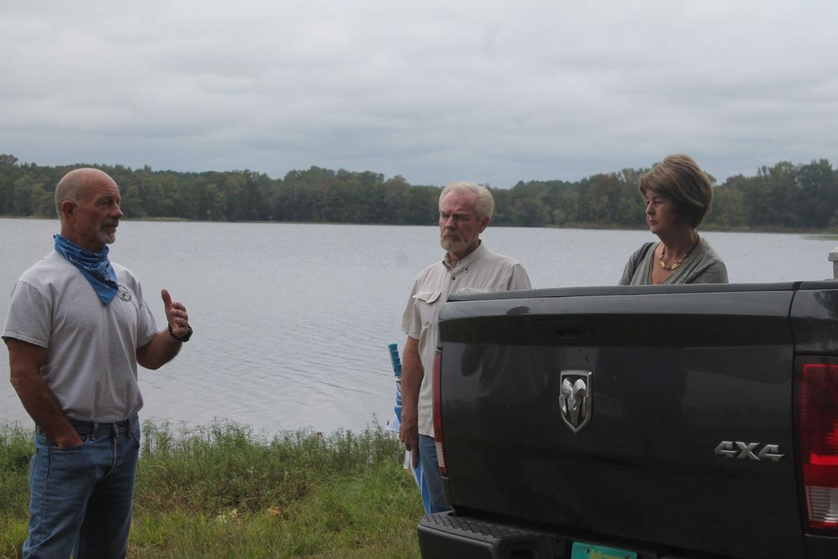 Meeting at Bald Knob Lake