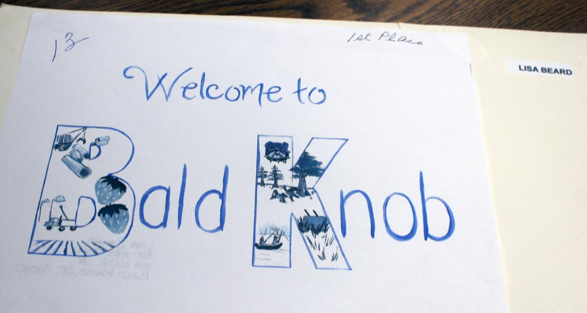 Winning entry for Bald Knob welcome sign contest