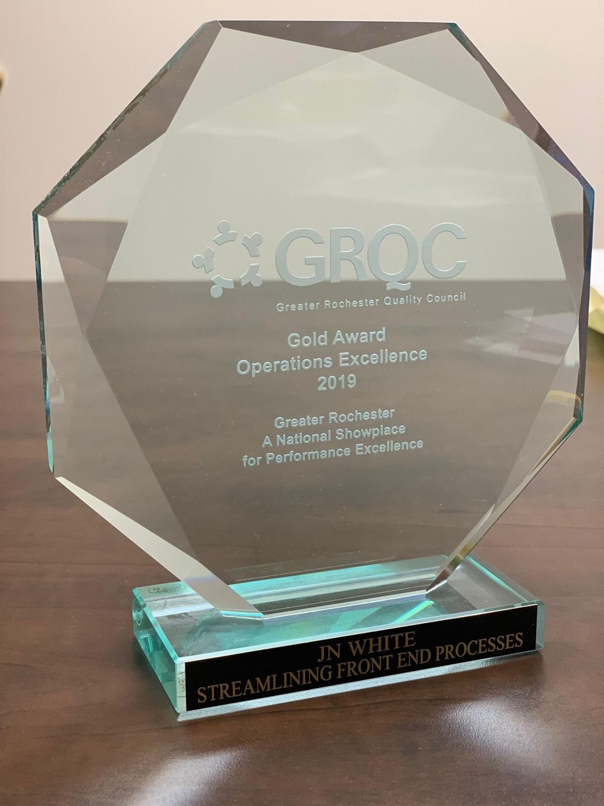 JN White wins prestigious quality award