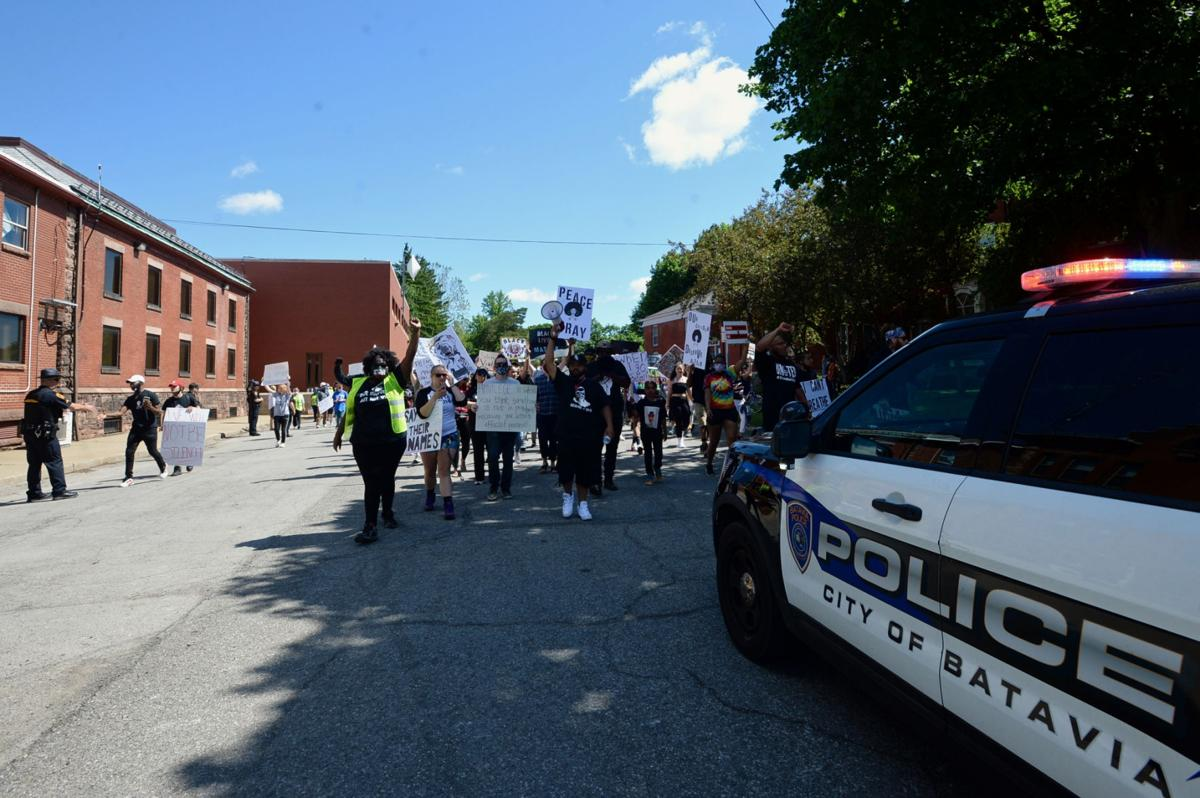 Sunday's protest was about speaking out, while peaceful