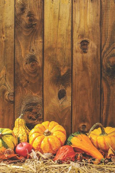 Decorating for the fall with gourds