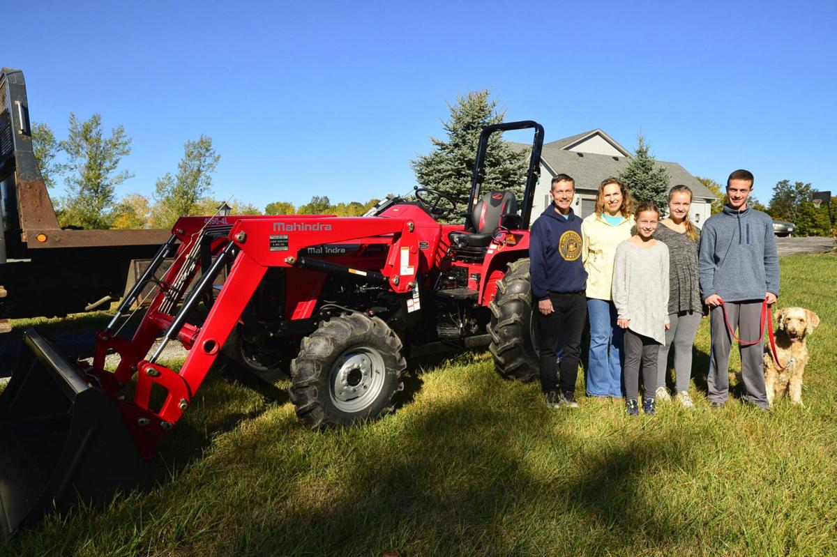 A brand new tractor for a veteran