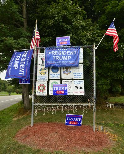 Warsaw property owner addresses Trump political signs controversy