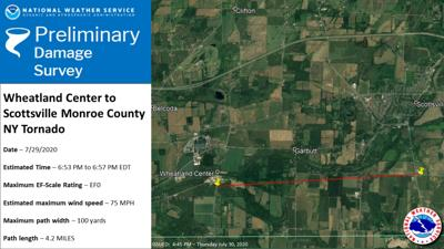 Weather Service confirms tornado struck southern Monroe County