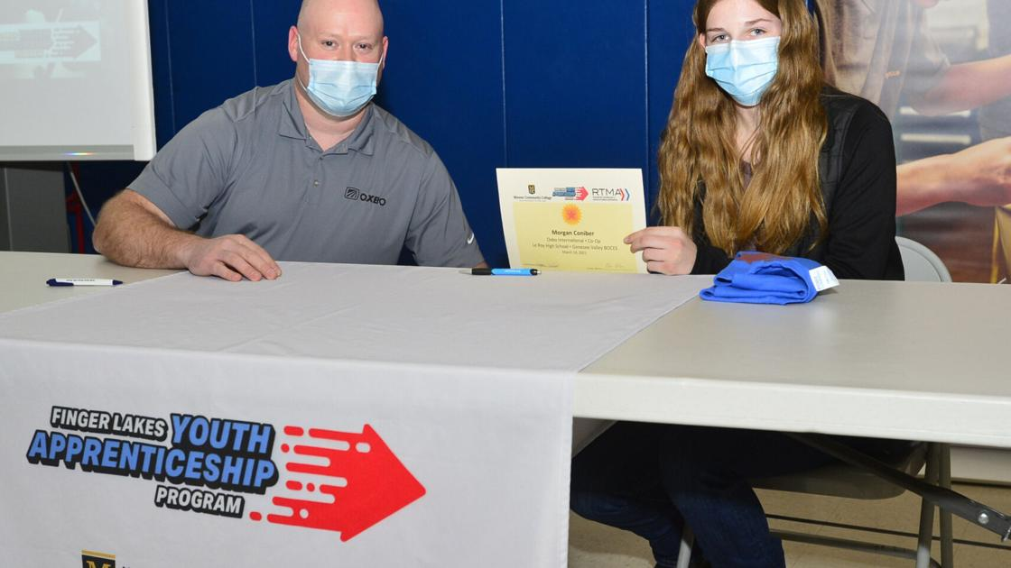 Career education: Batavia CTE students sign for on-the-job experience in Wednesday ceremony
