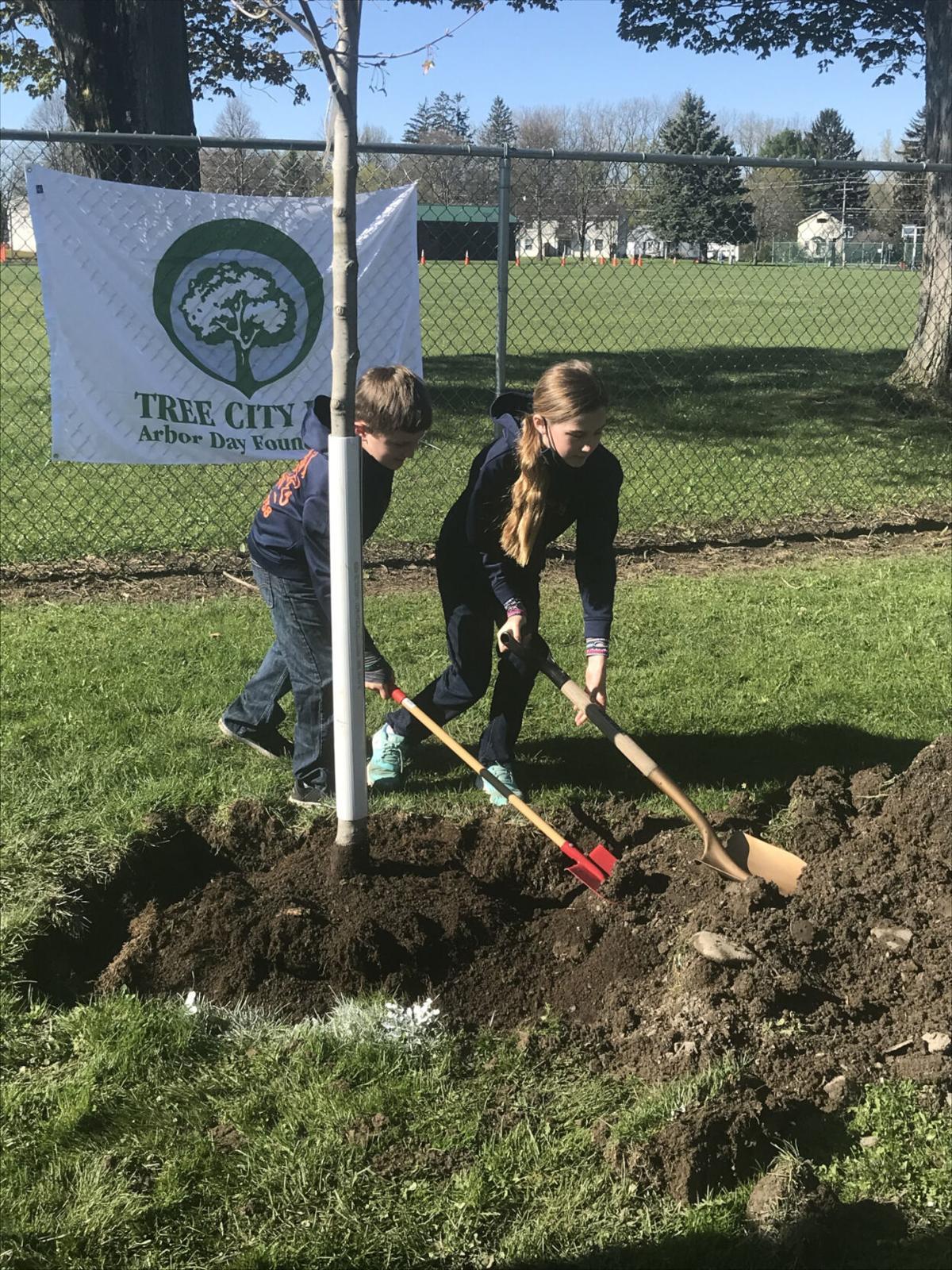 Arbor Day celebrated in Attica
