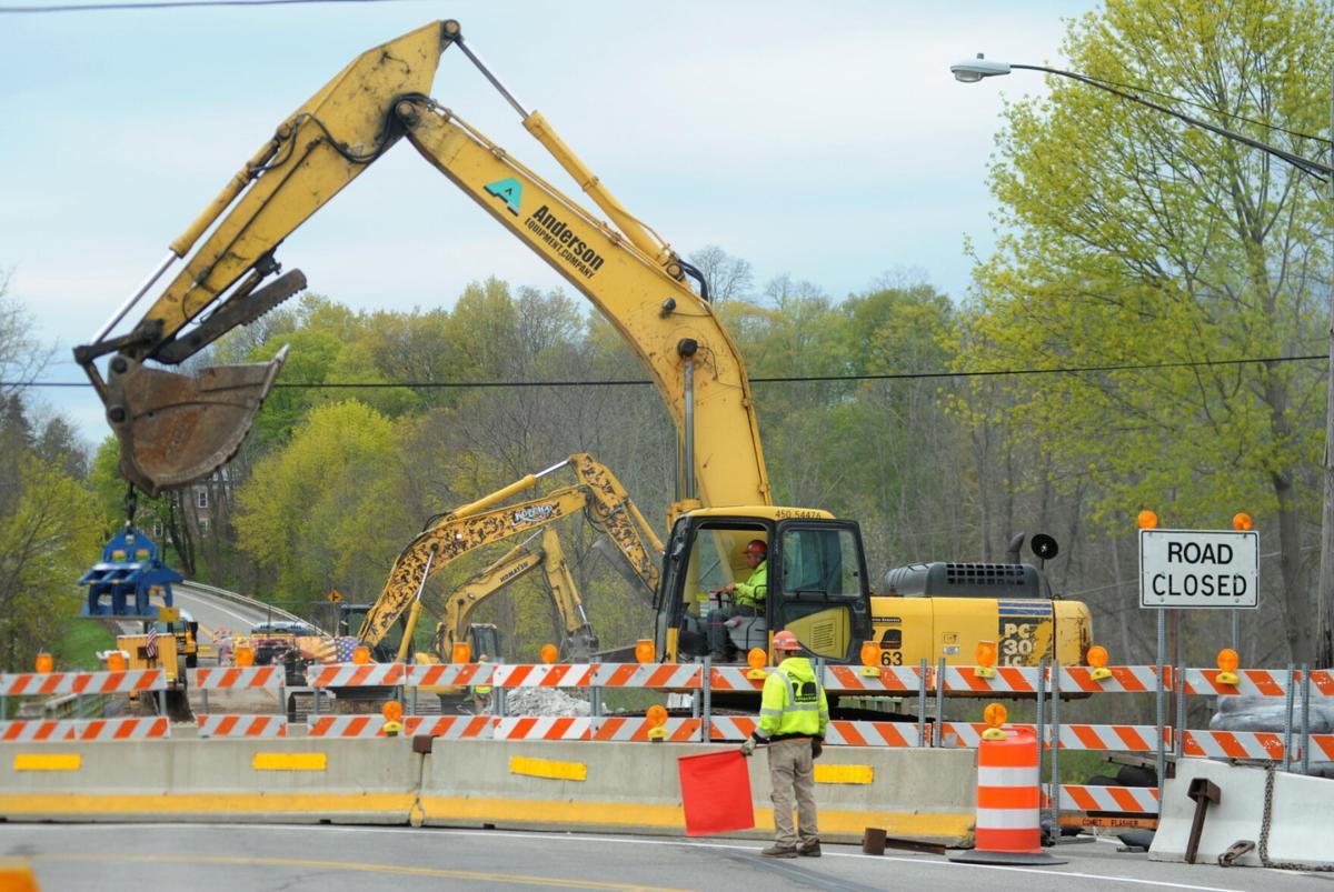 Bridge work begins
