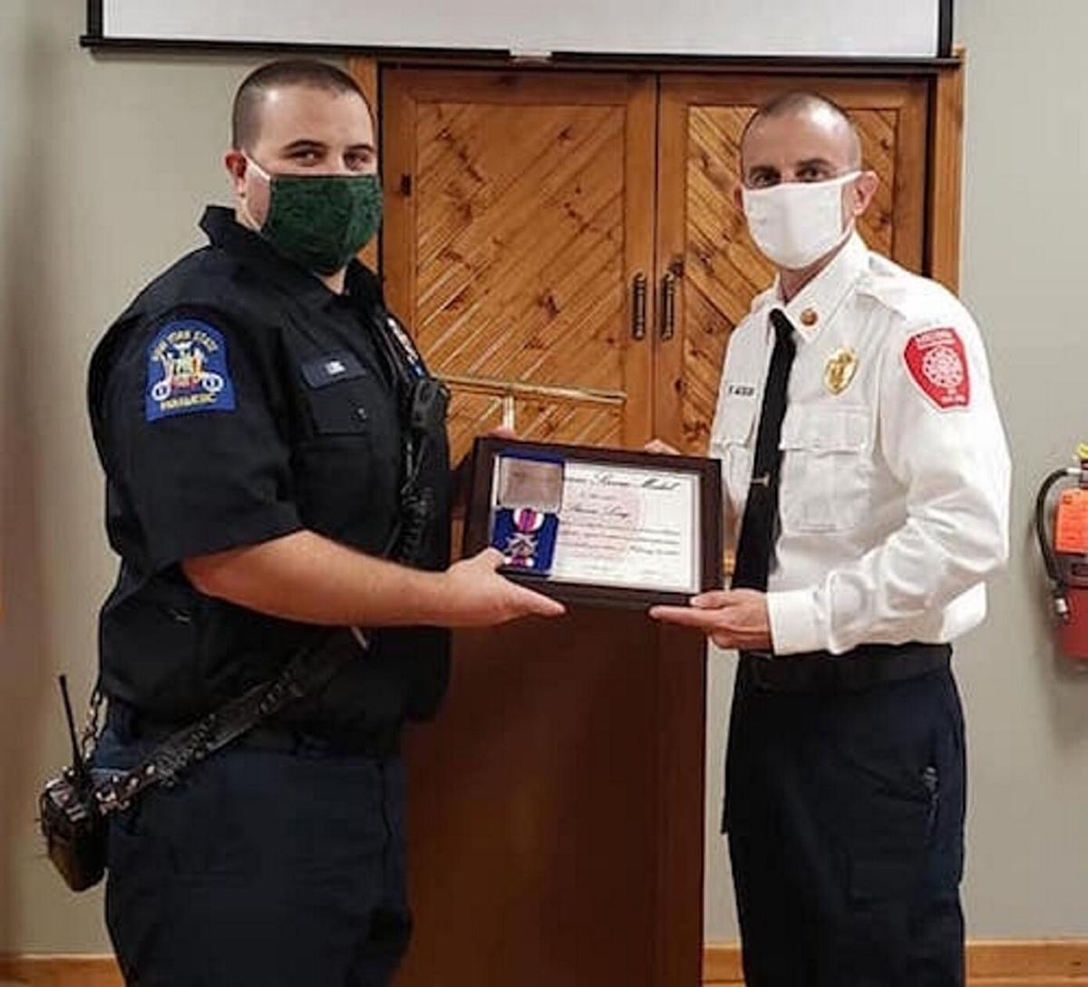 Fire chief turns to social media to present awards