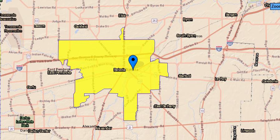 Batavia yellow zone