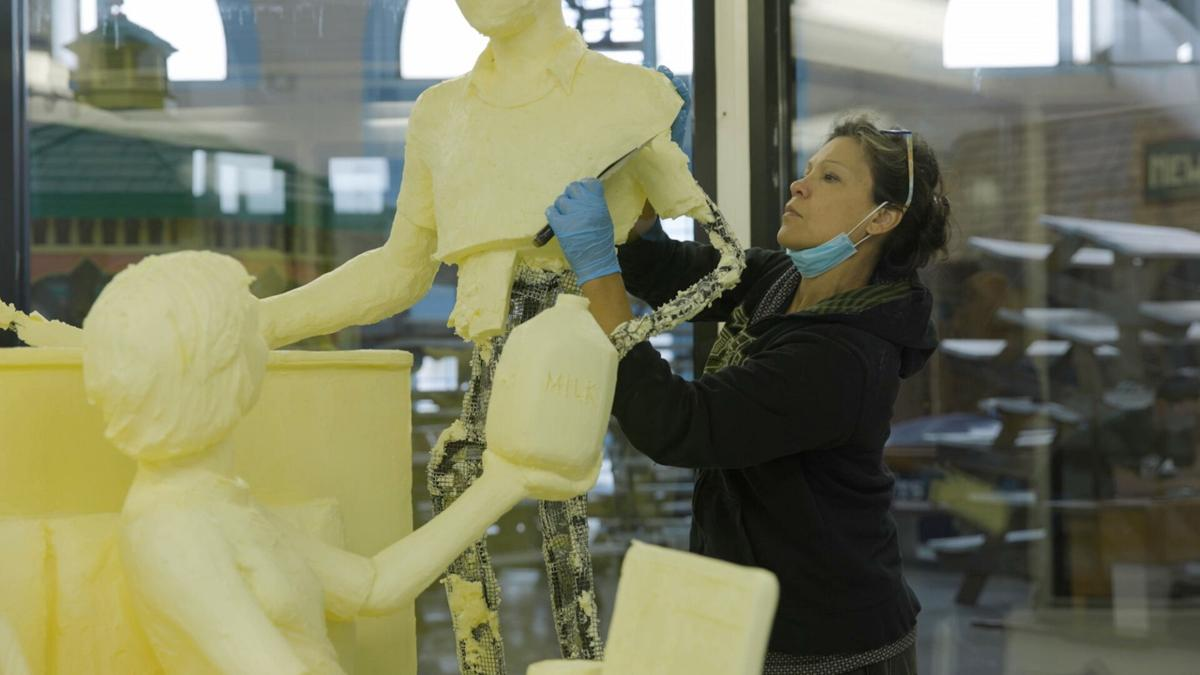 Butter sculpture ends days in Livingston