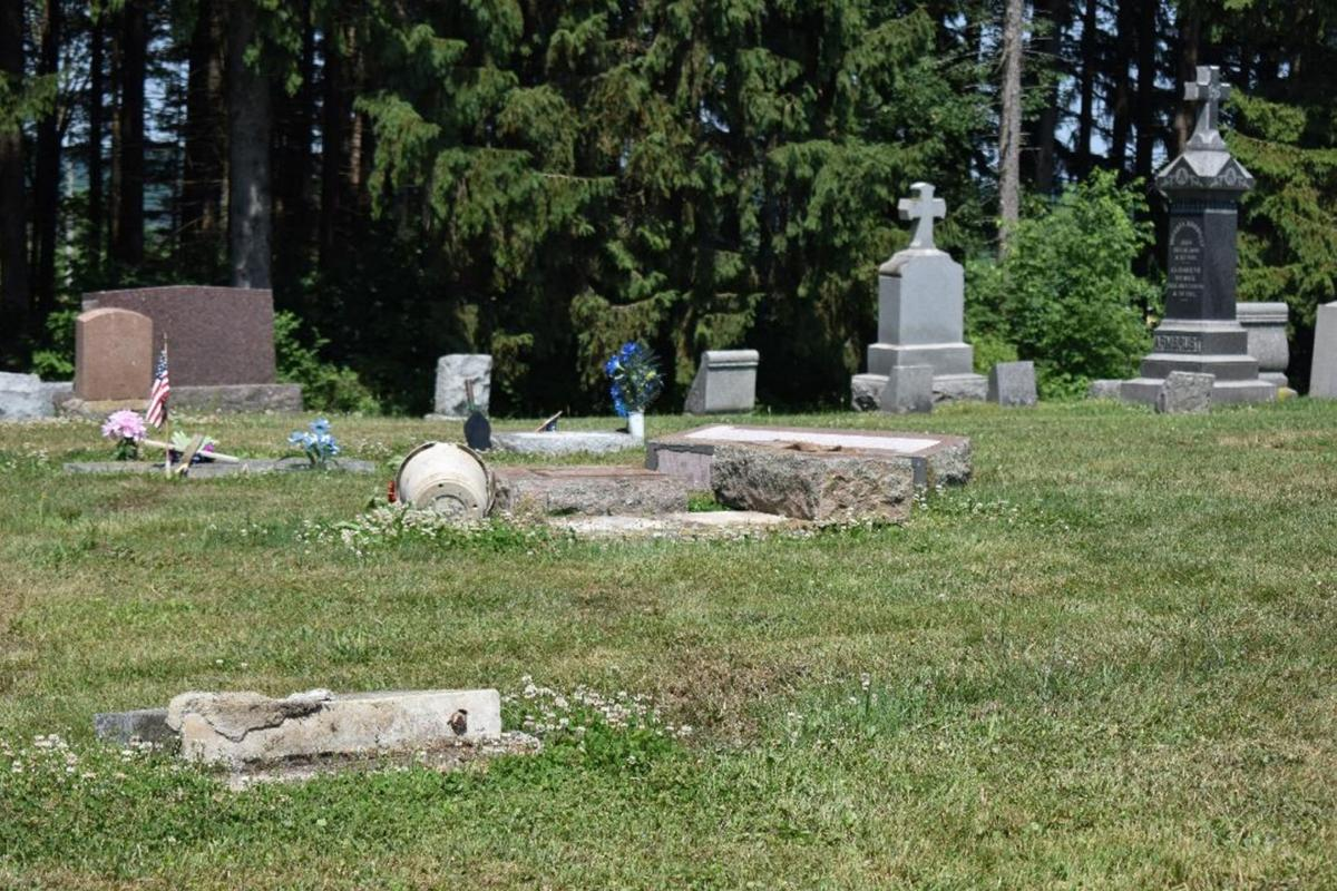Police search for cemetery vandals in Sheldon
