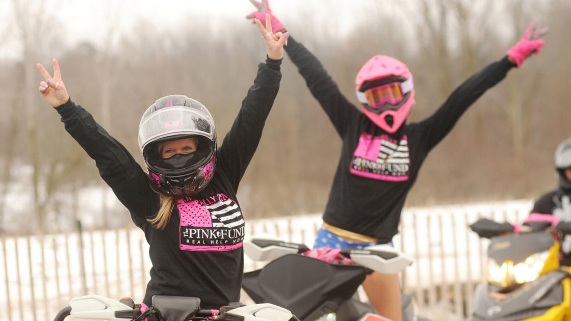 603daa3ae0eda image Riding sleds fighting cancer Annual Bikini Rally raises money for the Pink Fund 8211 The Daily News Online
