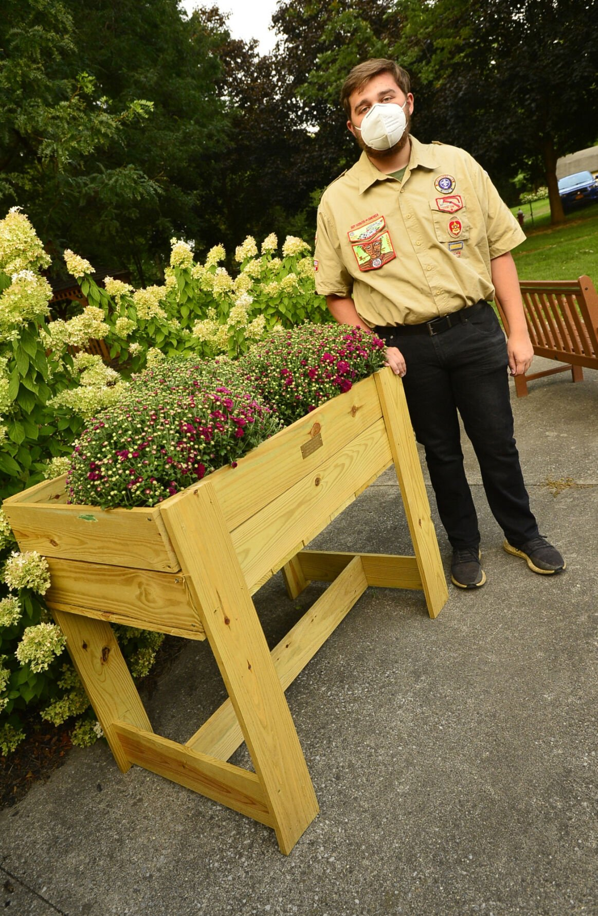 Eagle Scout's project brightens Village Green