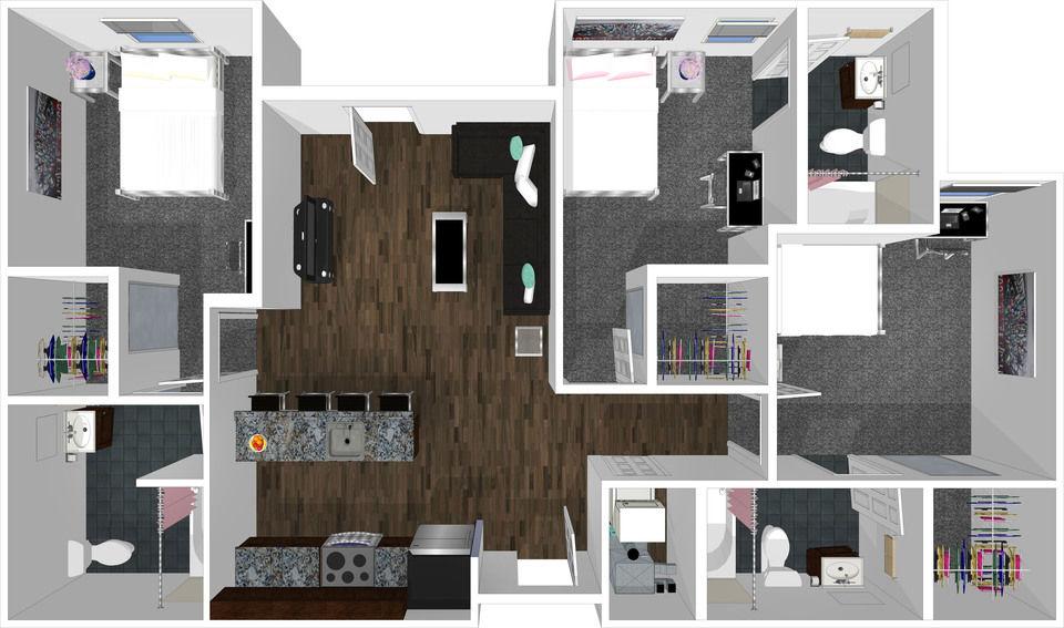 College Park - 3bd 3bth Apartment