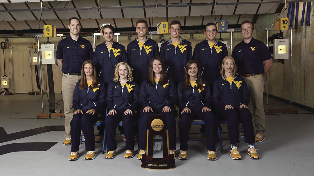 The 2017-18 WVU Rifle team which came in second place in the NCAA Championship.
