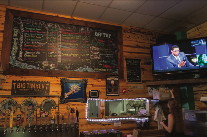 Black Bear also offers a wide variety of West Virginia-brewed beers on tap.