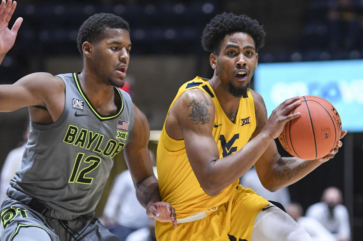 West Virginia guard Taz Sherman scored a career-high 26 points in a 94-89 overtime loss against the Baylor Bears on March 2, 2021.