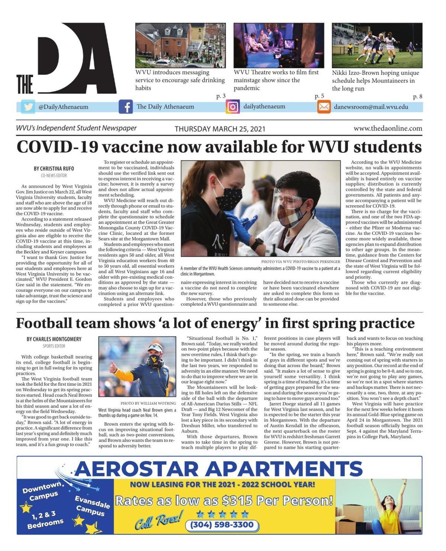 The DA's latest edition on March 25, 2021.