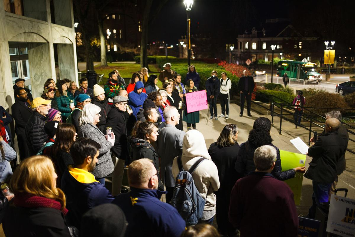 Over 50 people attended a vigil for Transgender Day of Remembrance on November 20, 2019 in front of the Mountainlair.