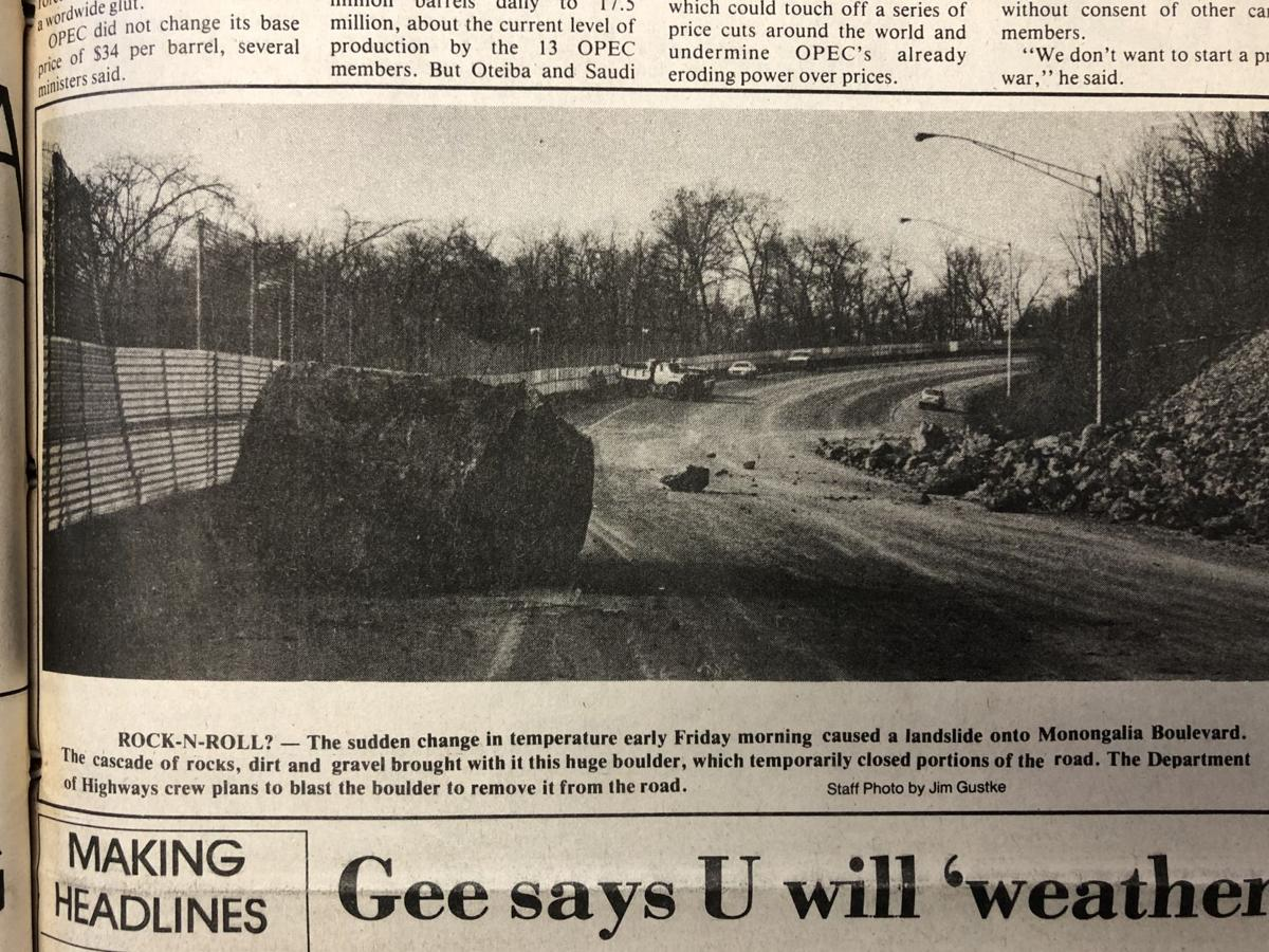 Jan. 25, 1983 rock slide