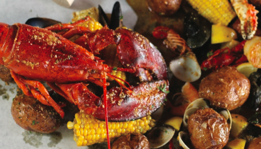 low country boil at crab shack