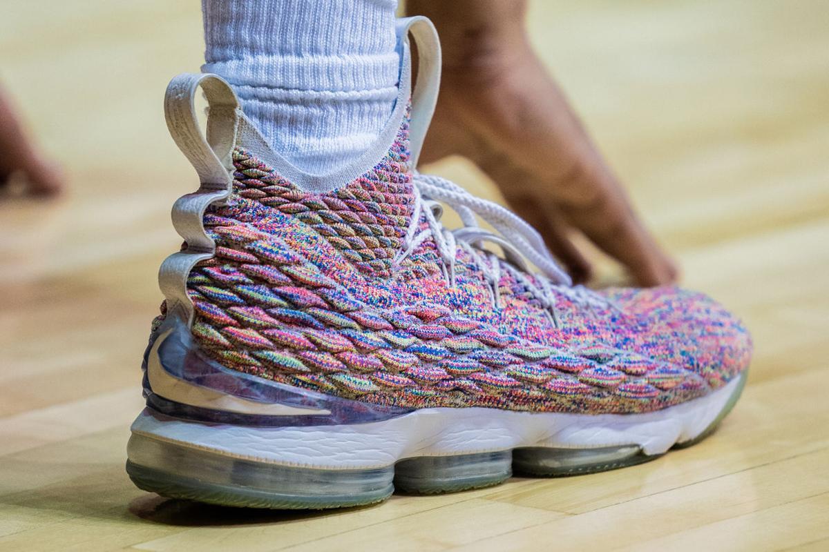 Jermaine Haley wears the Nike Lebron 15