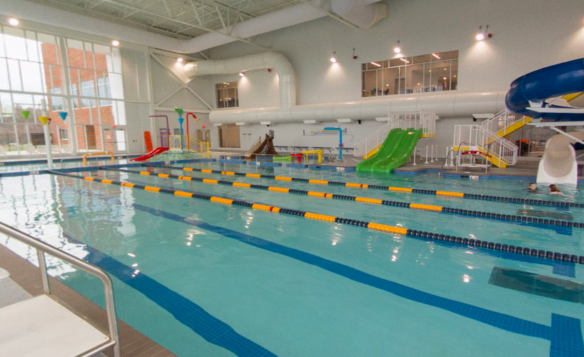 The Huntington Community Pool located at the Aquatic Center at Mylan Park.