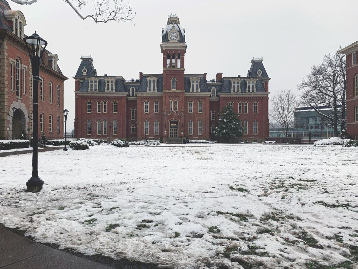 woodburn hall in the snow