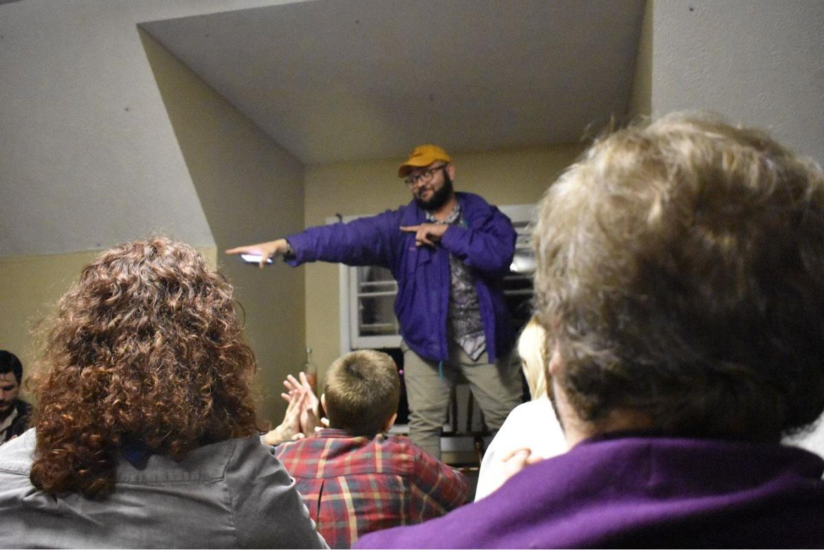 Fifteen writers from across the state met for an open mic night on Friday, Feb 22. The artists read in front of around 70 people.