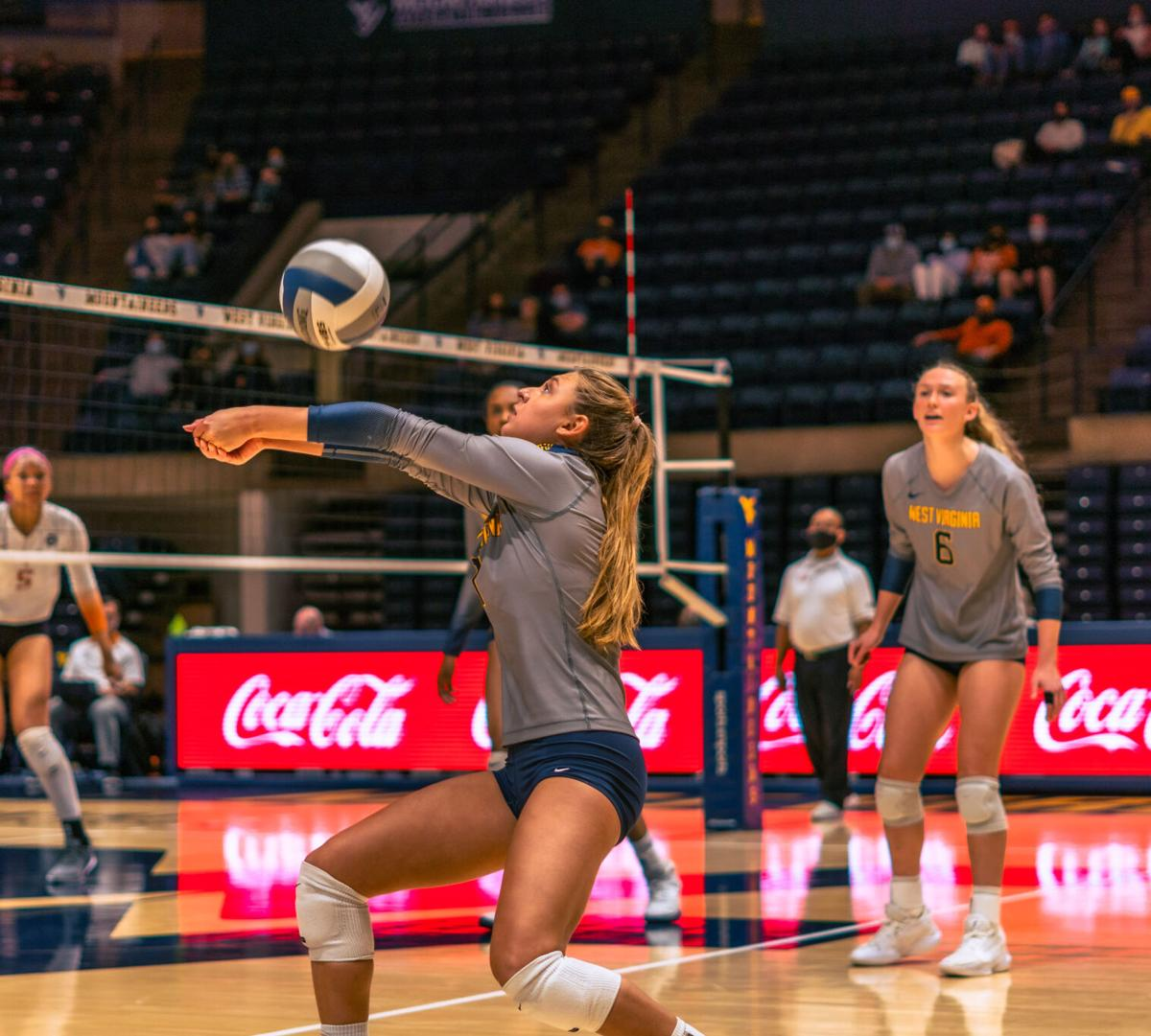WVU Women's volleyball vs Texas. November 13, 2020.