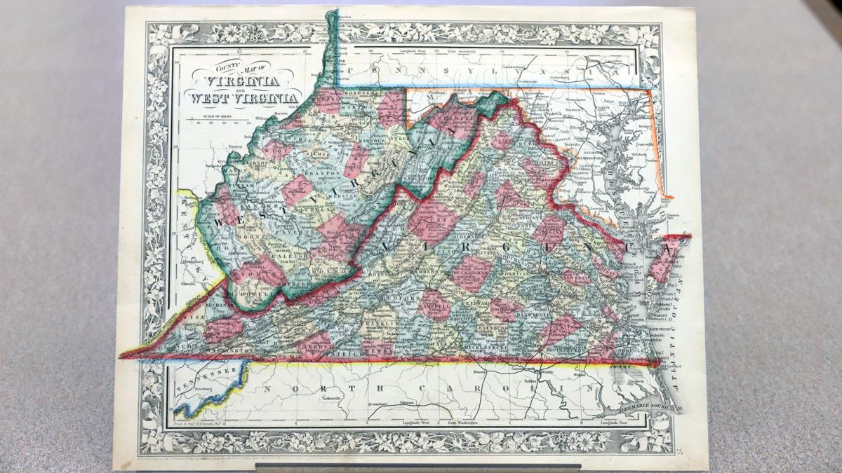 1863 Map of West Virginia
