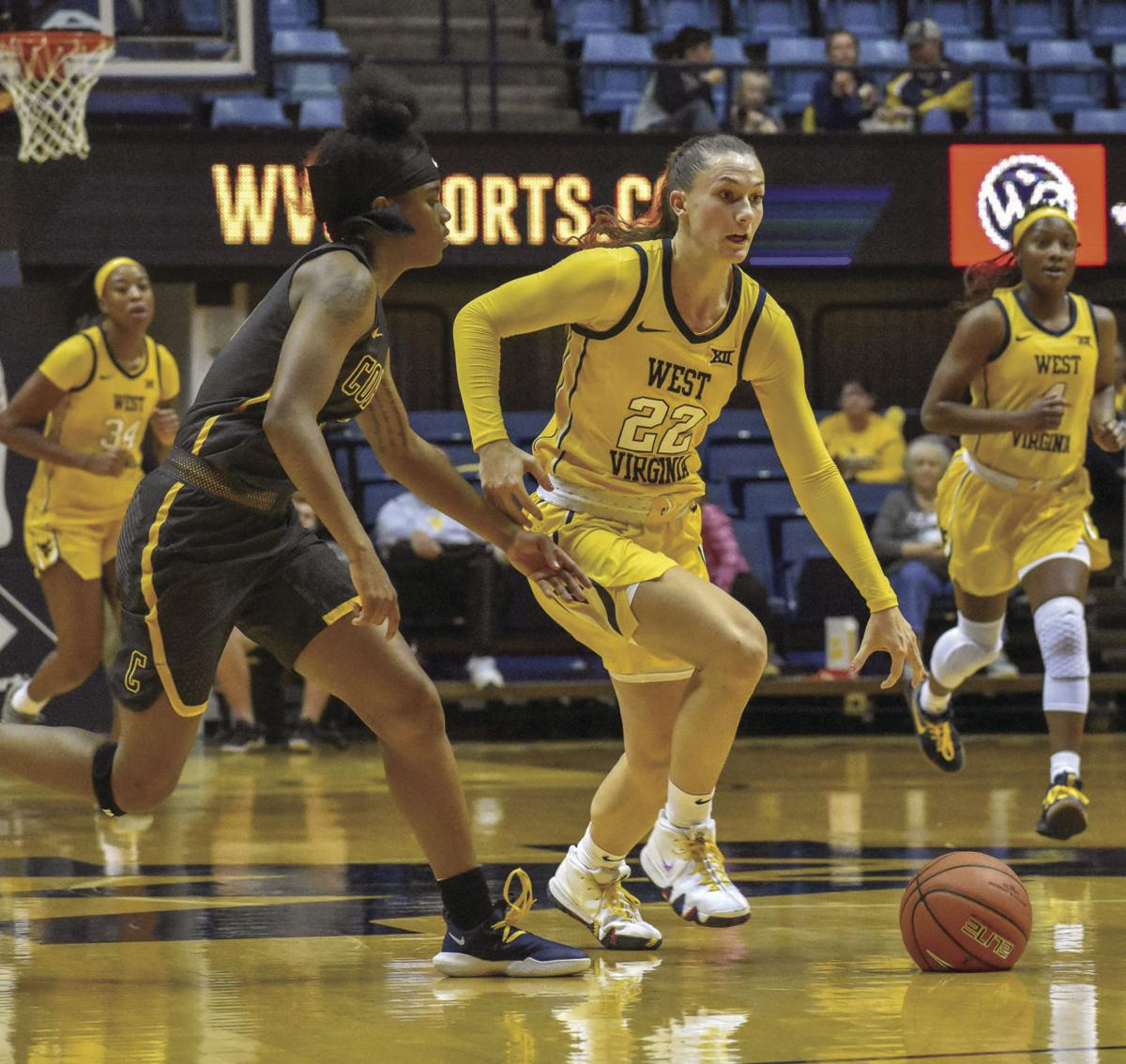katrina pardee during the coppin state game
